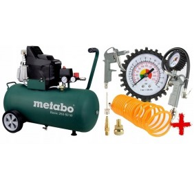 BASIC 250-50W METABO Kompresor + ZESATAW PNEUMATYCZNY